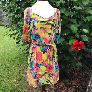 Trina Turk Floral Silk Dress